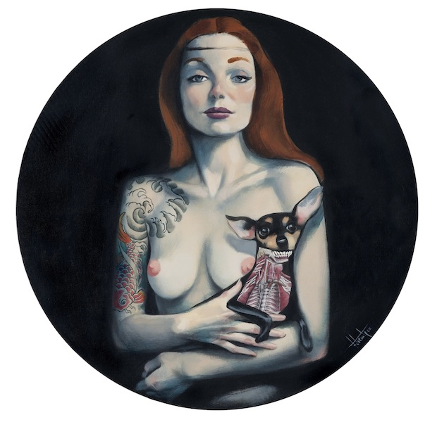 The lady with the dog Venus Fernando Vicente