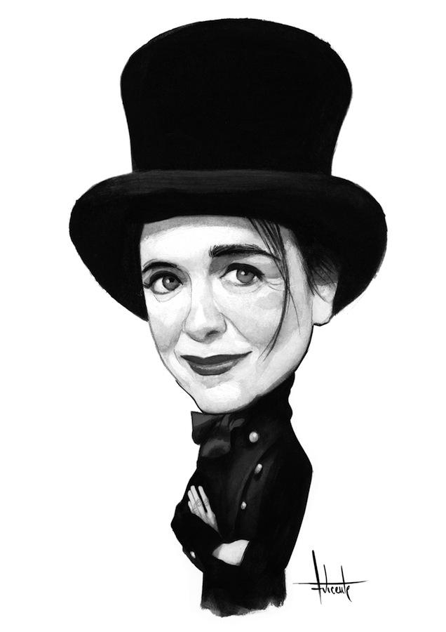 Amélie Nothomb Caricatura Fernando Vicente