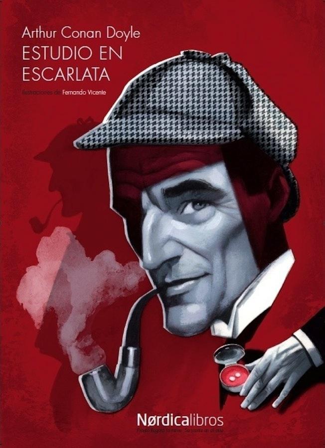 Cartel Estudio en escarlata Fernando Vicente