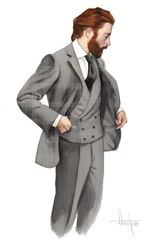 Cifonelli illustrations Gentleman Gentleman style Fashion Fernando Vicente-2