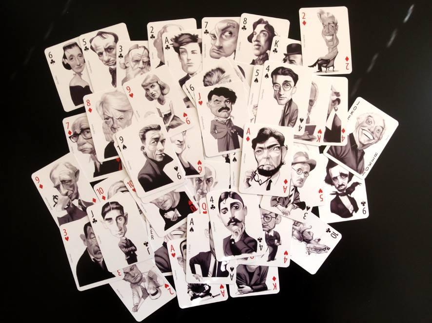 Baraja Literaria Retratos Originales de Escritores Fernando Vicente