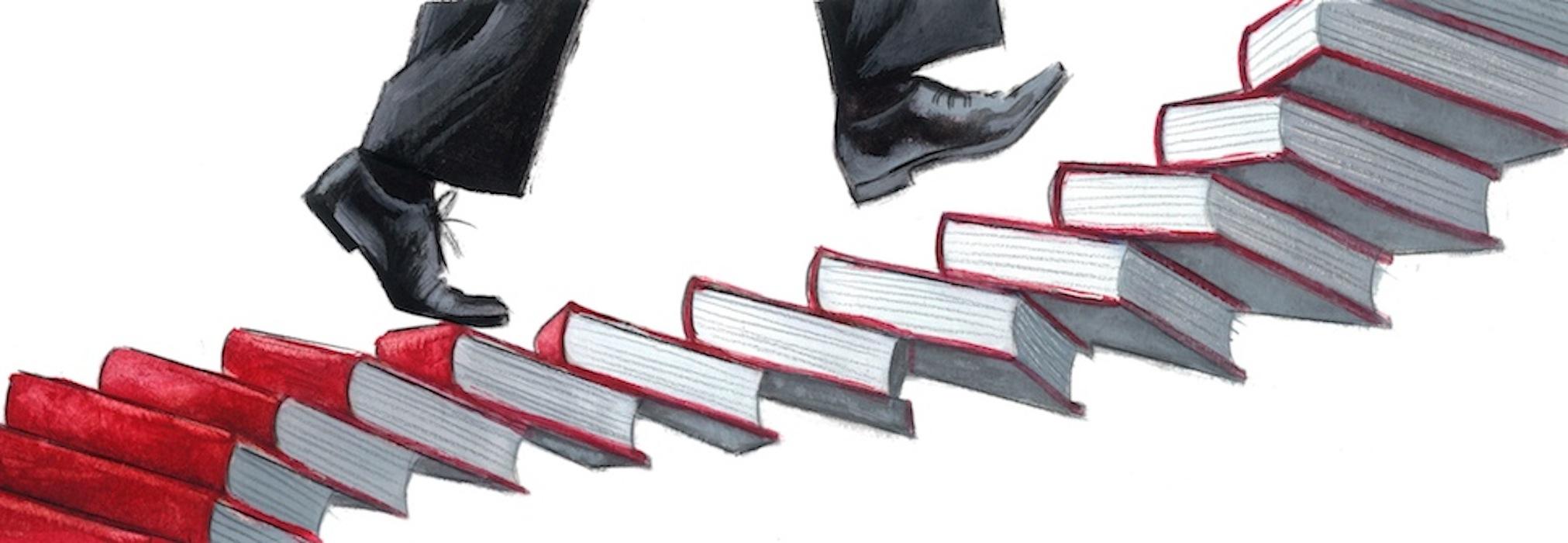 Ilustración de Prensa Los mejores libros 20 años Babelia Fernando Vicente