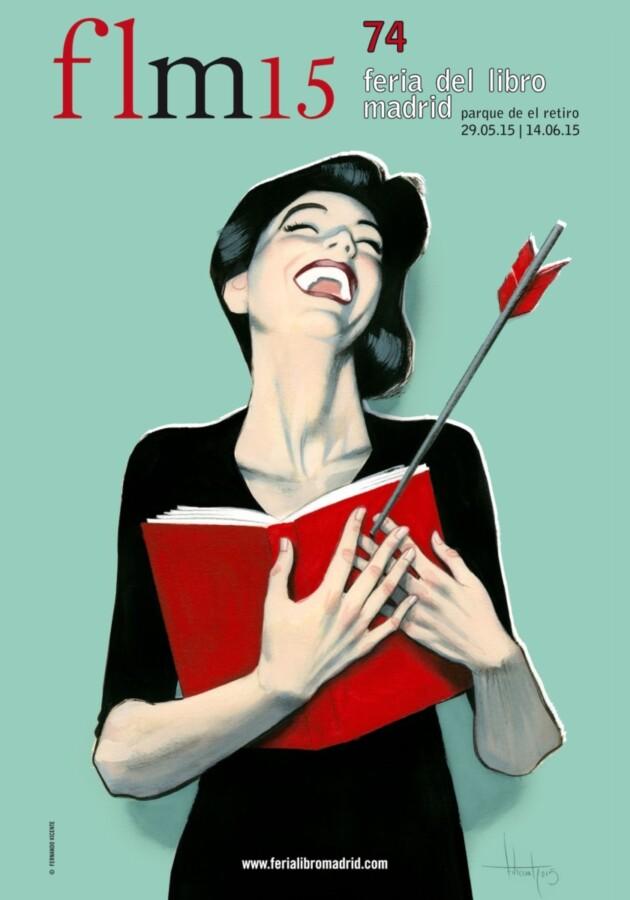 Cartel Feria del Libro Madrid 2015 Fernando Vicente