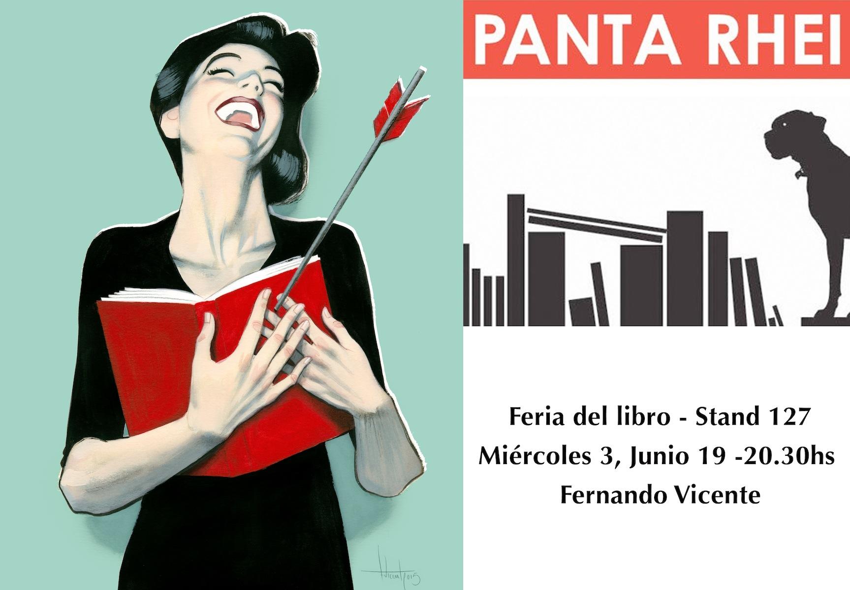 En la Feria del Libro de Madrid estaré con mis amigas de PANTA RHEI a partir de las 19:00 en el stand 127. #FLM15 #FLM2015 #FernandoVicente
