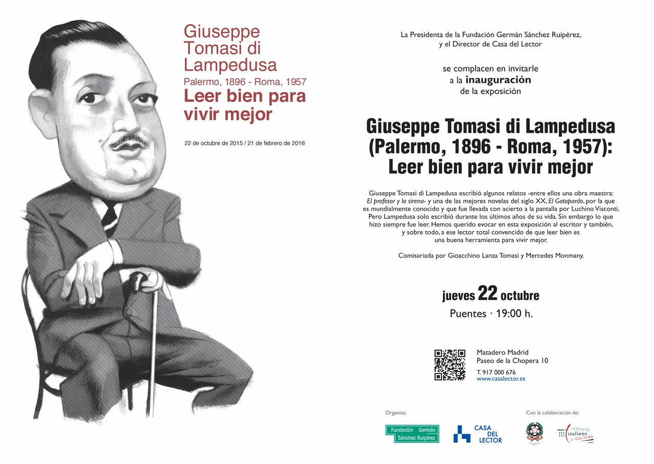 Invitación Giuseppe Tomasi di Lampedusa - Leer bien para vivir mejor