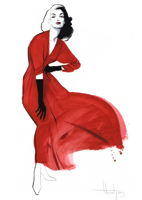 Moda Fernando Vicente Red Dress