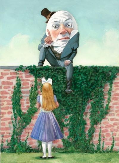 Alicia a través del espejo Lewis Carroll Fernando Vicente Humpty Dumpty