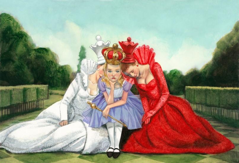 Alicia a través del espejo Lewis Carroll Fernando Vicente Reinas Blanca y Roja
