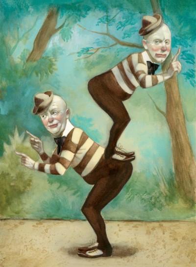 Alicia a través del espejo Lewis Carroll Fernando Vicente Tweedledum y Tweedledee