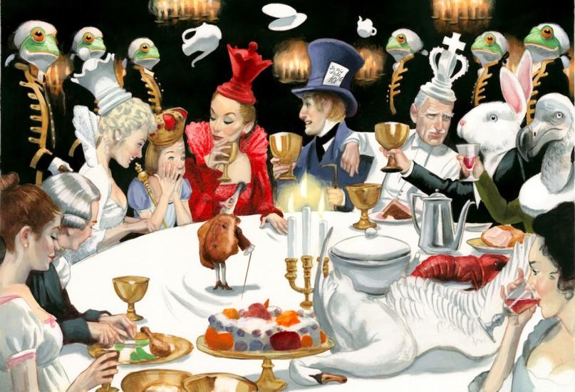 Alicia a través del espejo Lewis Carroll Fernando Vicente Banquete Fernando Vicente