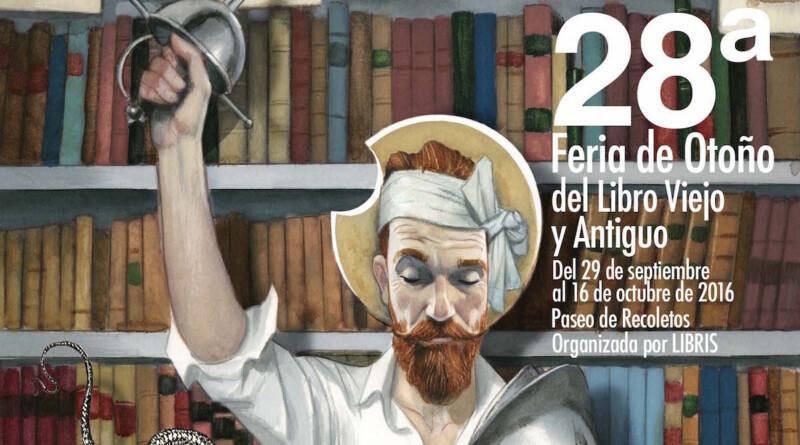Cartel Feria del libro Viejo y antiguo 2016