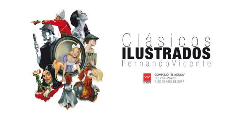 Cartel CLASICOS ILUSTRADOS Fernando Vicente