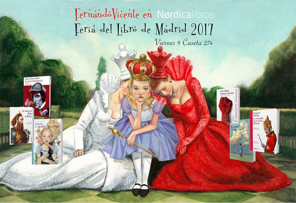 Fernando Vicente Feria del libro de MAdrid 2017 Nordica Libros