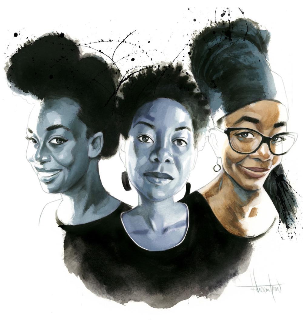 Chimamanda Ngozi Adichie NoViolet Bulawayo y Nnedi Okorafor Fernando Vicente