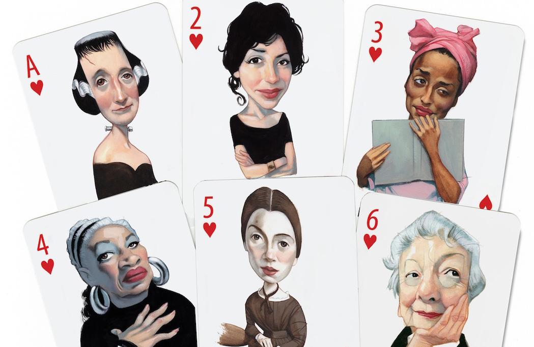 Retratos Portraits Caricaturas Baraja de escritoras
