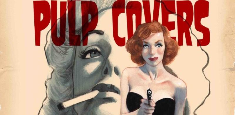 Cartel Exposición Pulp Covers Feranando Vicente detalle