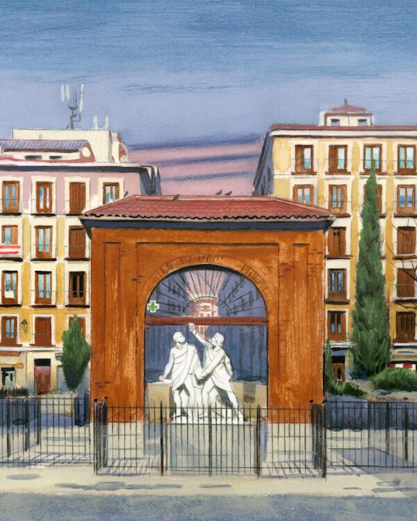 Retablo Marta Sanz Fernando Vicente Plaza Dos de mayo