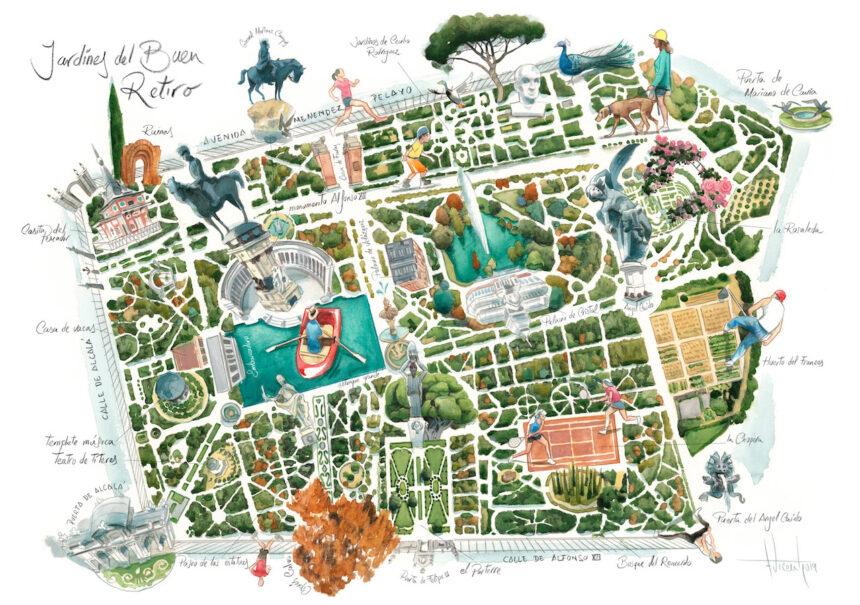 Jardines del Buen Retiro de Madrid. Jardines del Retiro