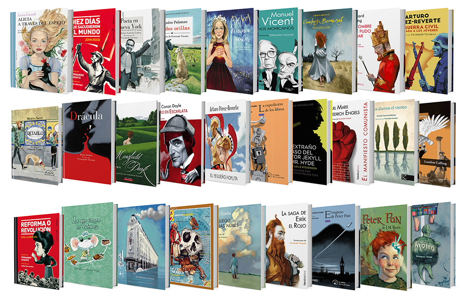 Libros ilustrados Illustrated books Fernando Vicente escalera portadas 2019