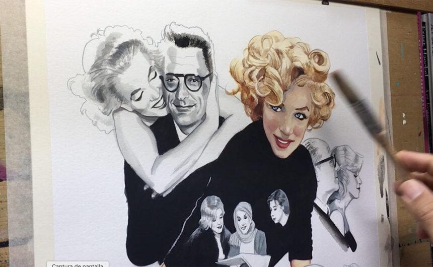 Dibujando a Marilyn Monroe Fernando Vicente