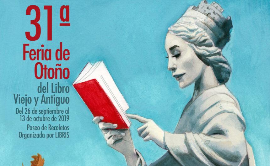 Cartel feria de Otoño Feria de libro antiguo Otoño 2019