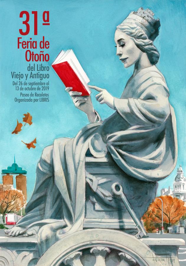 Cartel Feria de Otoño del libro Viejo y Antiguo 2019