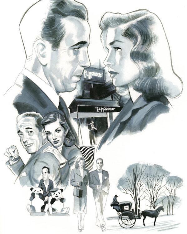 Humphrey Bogart y Lauren Bacall Espiritus de Nueva York editorial Lunwerg Alberto Gil Fernando Vicente