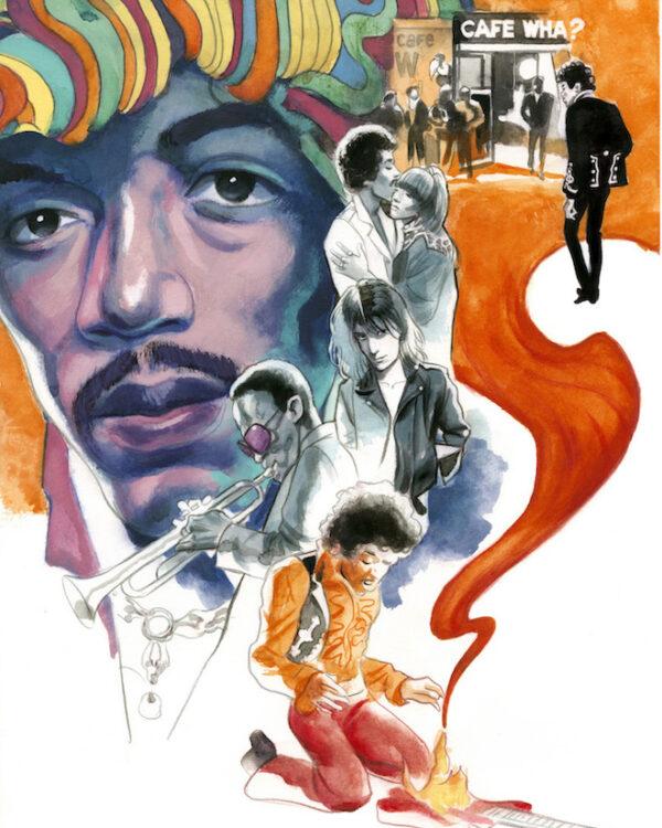 Jimi Hendrix Espiritus de Nueva York editorial Lunwerg Alberto Gil Fernando Vicente