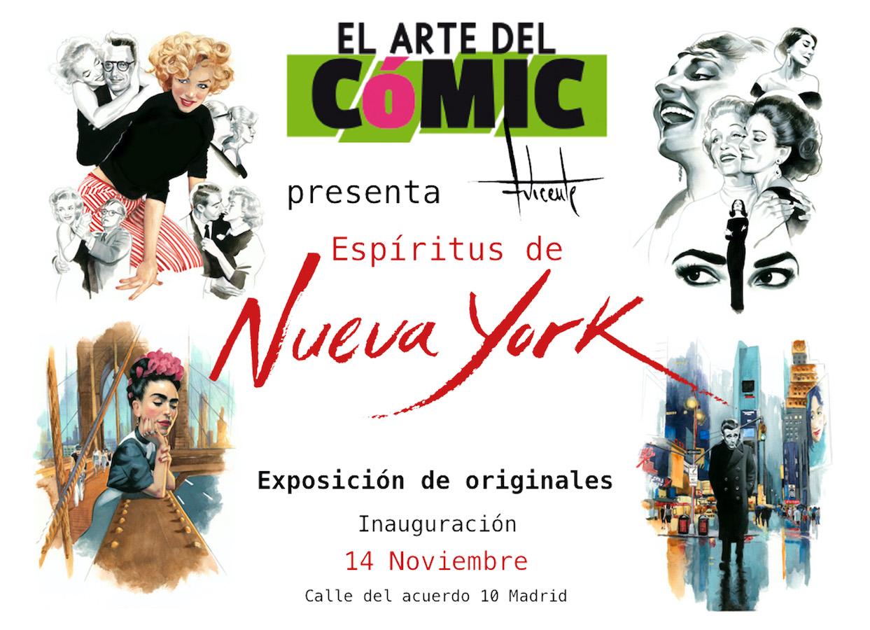 Exposición Espiritus de Nueva York Fernando Vicente El Arte del comic 2019
