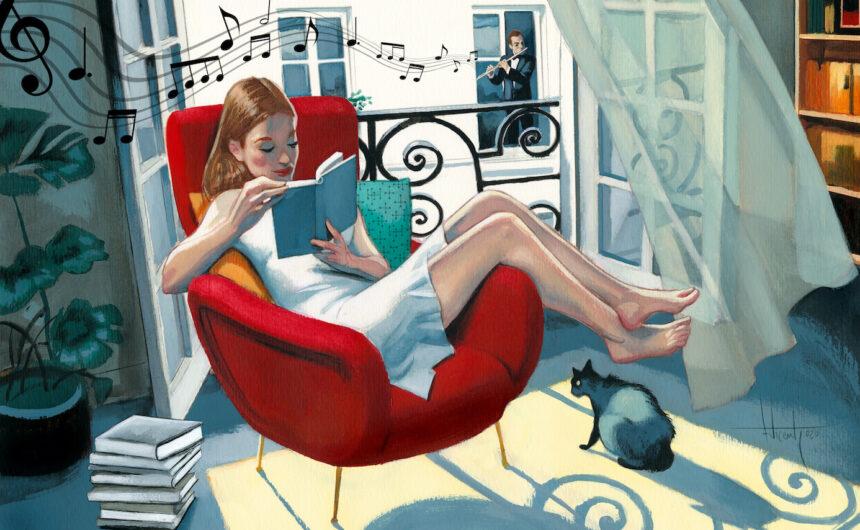 Lectura en casa ilustrada Fernando Vicente