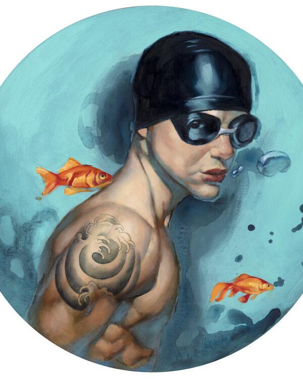 Nadador tattoo Fernando Vicente