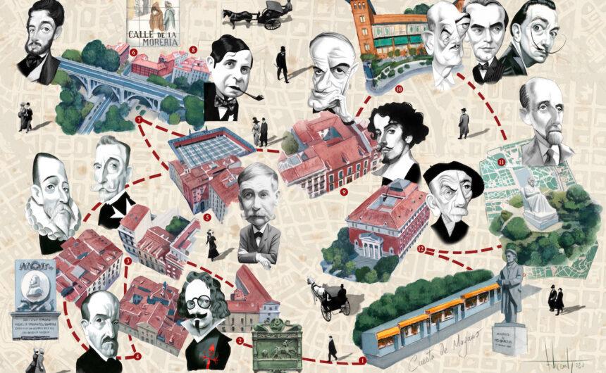 MAPA CULTURAL ILUSTRADO DE MADRID