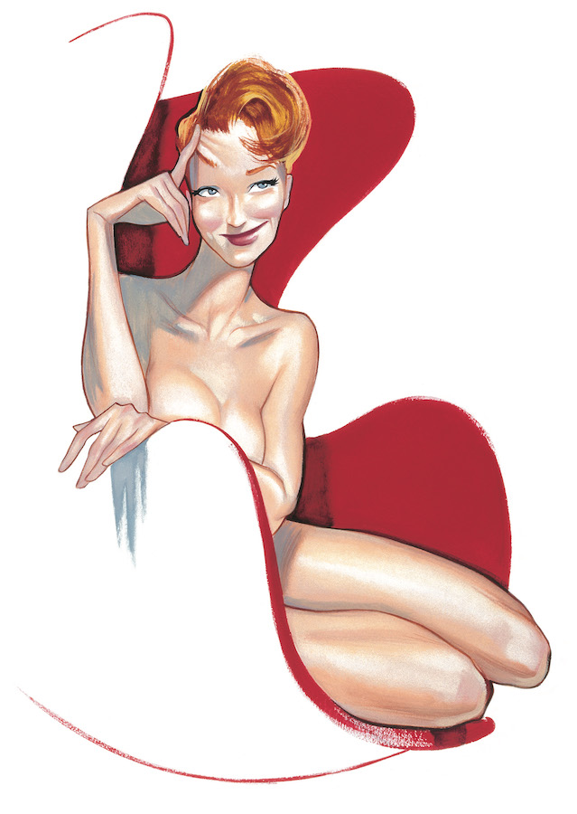 Pinups Impresiones sobre papel Fernando Vicente Pin-Up red chair