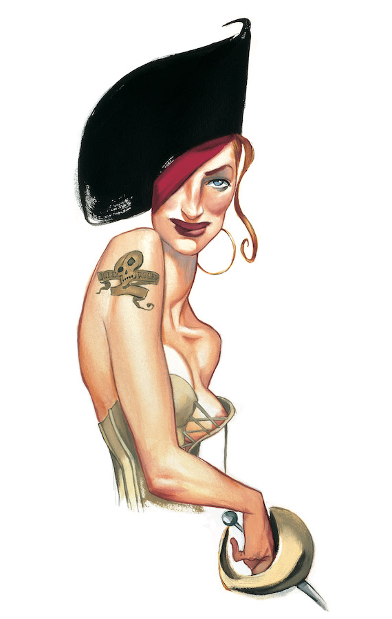 Pinups Impresiones sobre papel Fernando Vicente Pin-Up pirata