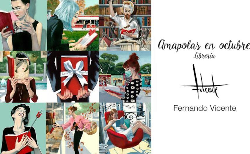 Amapolas en abril Semana del libro 2021 Amapolas libreria literatura libros dibujos ilustracion Fernandovicente