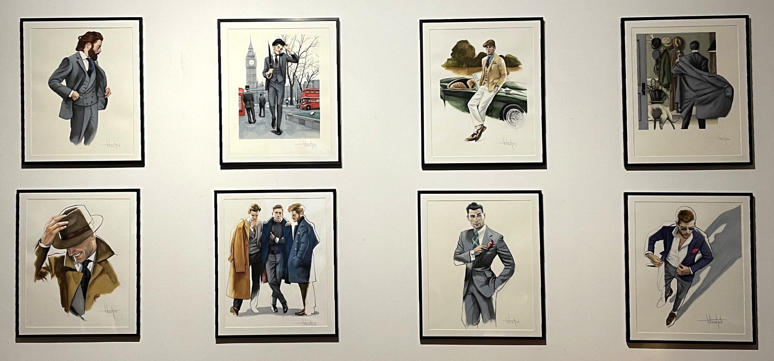 Gentleman Dibujos originales de moda Fernando Vicente