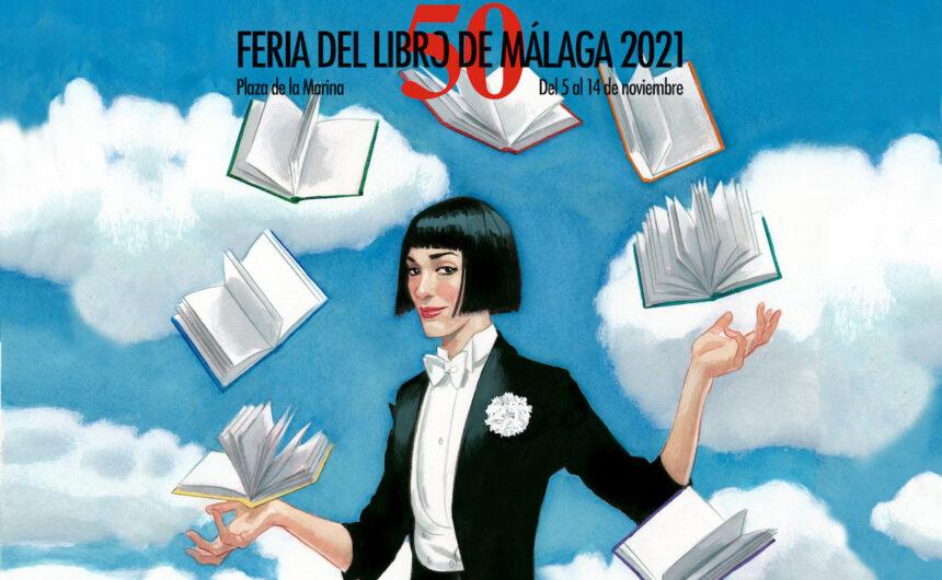 Cartel Feria del libro de Malaga
